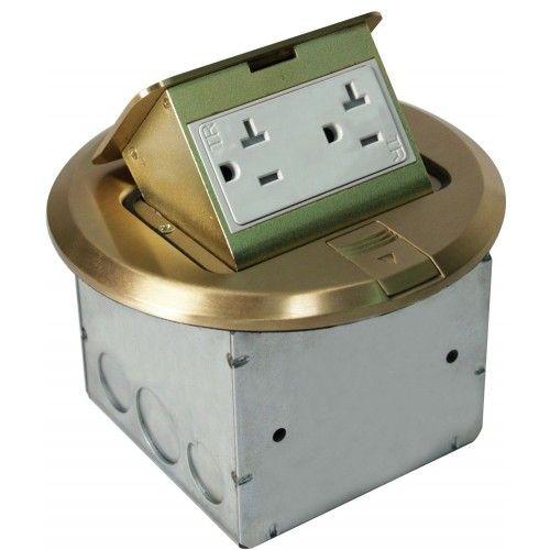 Orbit FLBPU-D-R Tamper Resistant Floor Box Pop-Up with Duplex Receptacle Round Cover