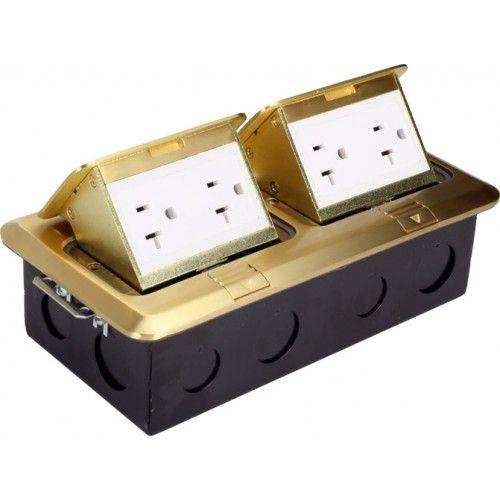 Orbit FLBPU-DD Tamper Resistant Electriacl Floor Box Pop-Up with 2 Duplex Receptacles