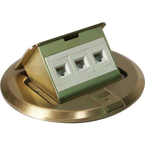 Orbit FLBPU-L-R-C Round Electrical Floor Box Pop-up Cover with Low Voltage (RJ45) Data