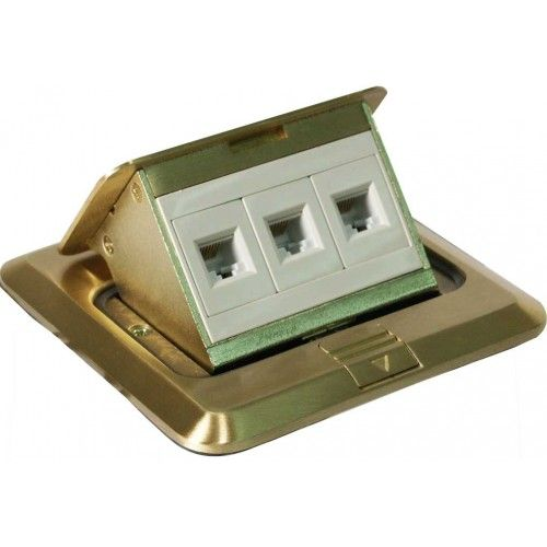 Orbit Electrical FLBPU-L-S-C Floor Box Pop-up Square Cover with Low Voltage (RJ45) Data