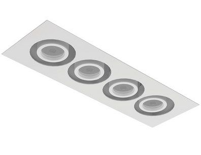 Image 1 of Intense Lighting MXFM4 Quad LED Recessed Lighting Multiple - 4 Light + Housing + Trim