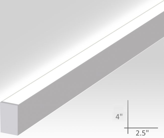 Alcon Lighting 12100-20-W-U Continuum 20 Series Architectural Indirect LED Linear Wall Mount Lighting