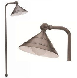 Alcon Lighting 9068 Lincoln Solid Brass Low Voltage LED Architectural Landscape Path Light