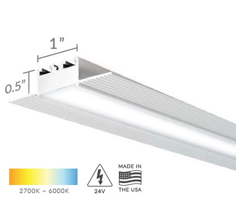 Alcon Lighting 12100 10 Lr Shallow Continuum Architectural Led Trimless Linear Low Profile