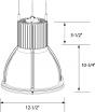 Alcon Lighting 80121-WA Veria Architectural LED Acrylic Shade Warehouse High Bay High Performance Light Fixture