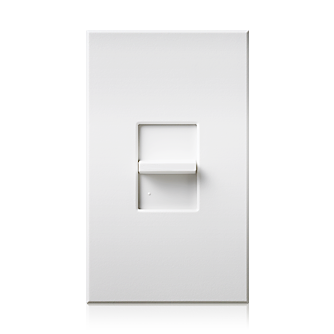 Alcon Lighting Manor 2101 Thin Profile 0-10V Slide-to-Off Dimmer Switch Single-Pole 120-277V (8A Max)