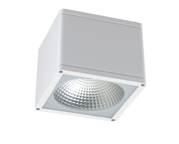 Alcon Lighting 11224-DIR Pavo Architectural LED 6 Inch Square Surface Ceiling Mount Direct Down Light Fixture