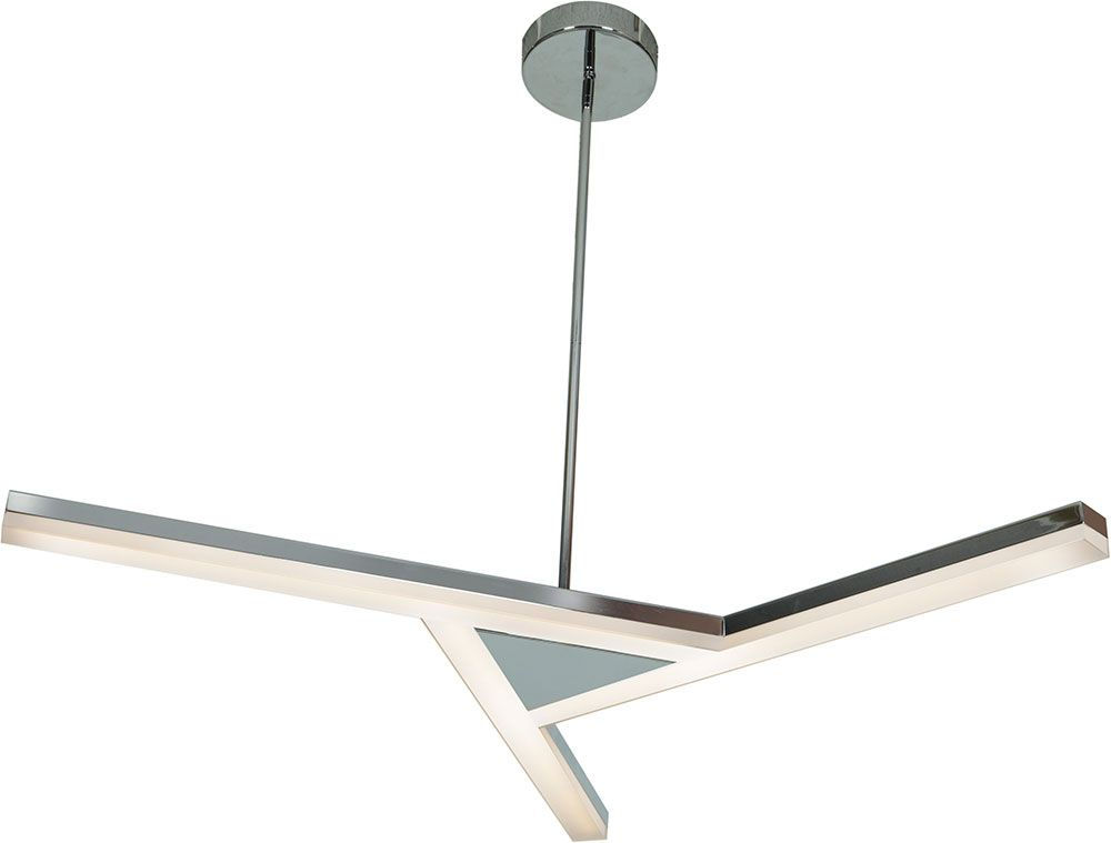Alcon Lighting 12141 Led 3 Light Semi Flush Suspended Pendant Fixture