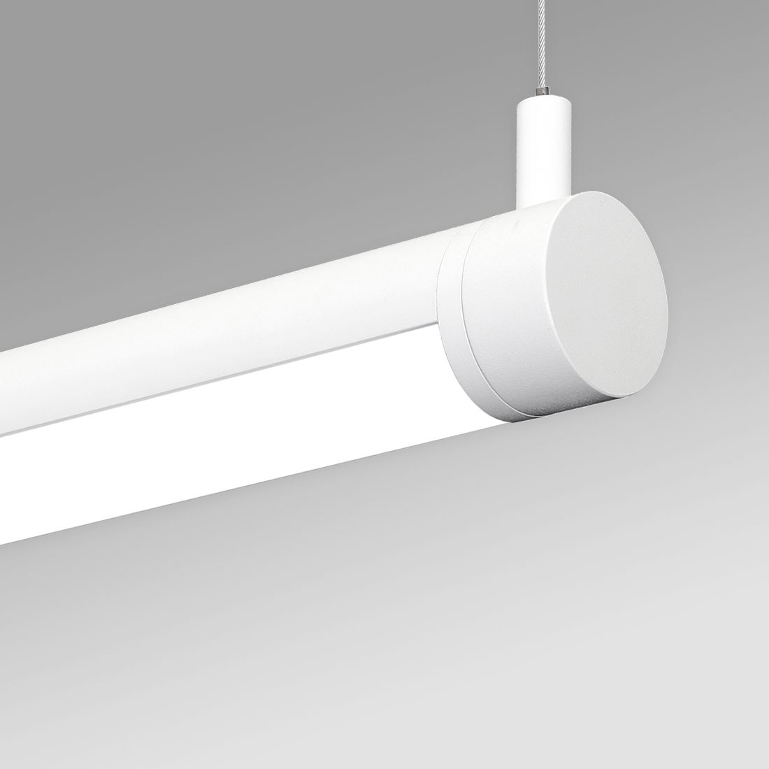 Alcon 12501 R2 P Rotatable Antimicrobial Led Pendant Tube Light Commercial Grade Healthcare Lighting