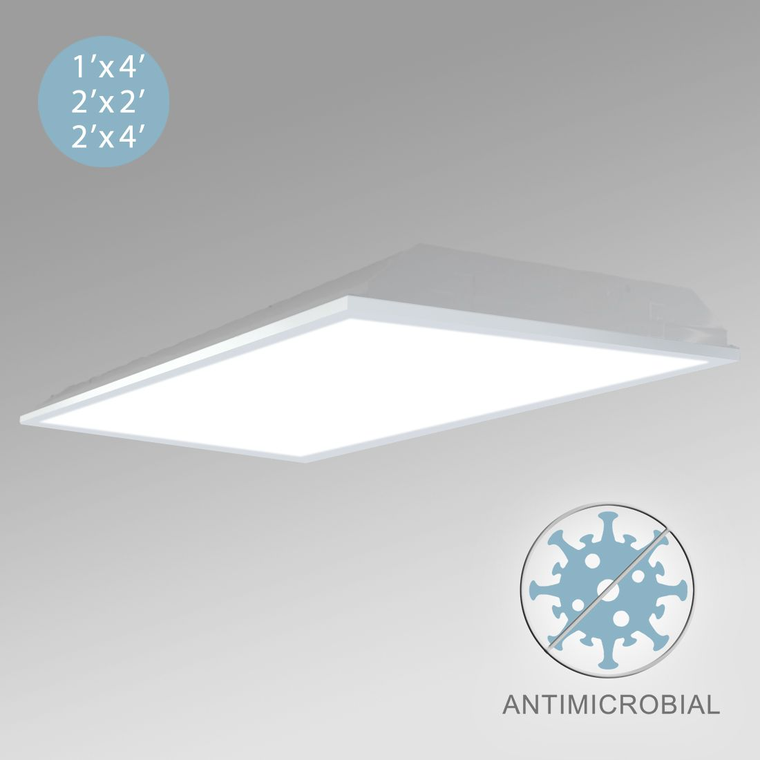 Image of: Alcon 12507 Antimicrobial Low Profile Acrylic Lens Led Troffer Light Commercial Grade Healthcare Lighting
