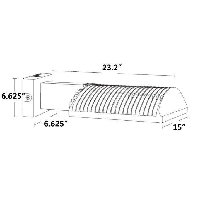 Standard Type Warm RAB Lighting WPLED4T150Y//PCT Ultra High Output//High Efficiency 150W LED Wallpack 3000 K Color