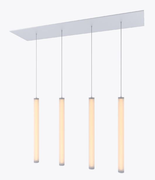 Alcon Lighting 12168 4 Cosma Light Cer Architectural Led Long Cylinder Vertical Commercial Pendant Fixture