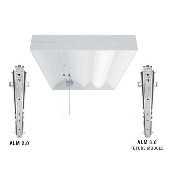 Cooper 2ACLED 2x4 Recessed Accord LED Series Metalux LED