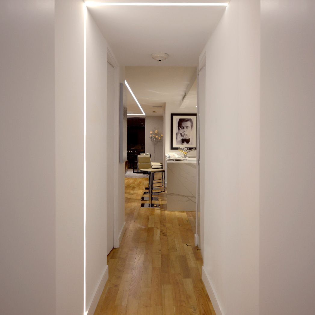 Image of: Alcon 12100 23 R L Linear Recessed Ceiling To Wall Led Light Commercial Grade U S Made