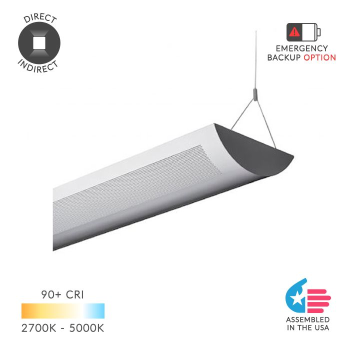 Alcon Lighting 12106 Ashton Architectural Led Perforated Linear Pendant Direct Indirect Fixture