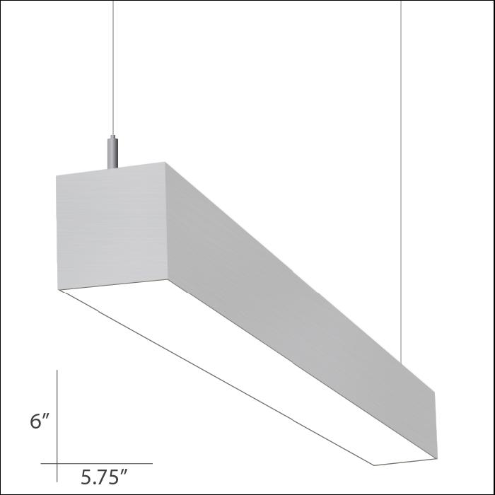 Alcon Lighting Beam 66 Series 10120 4 Architectural 4 Foot Linear Fluorescent Pendant Mount Light Fixture Alconlighting Com