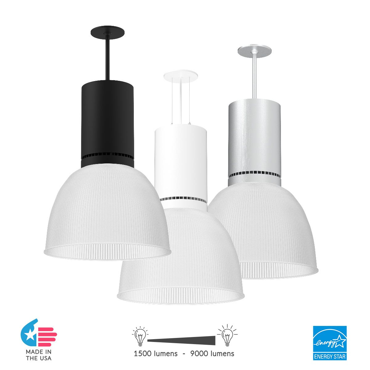 Alcon Lighting 15225 Circa Led Round High Bay Commercial Pendant