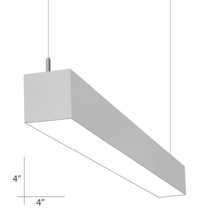 Alcon Lighting 12200 4 P Rft Series Architectural Led Foot Linear Suspended Pendant Mount Direct Light Fixture