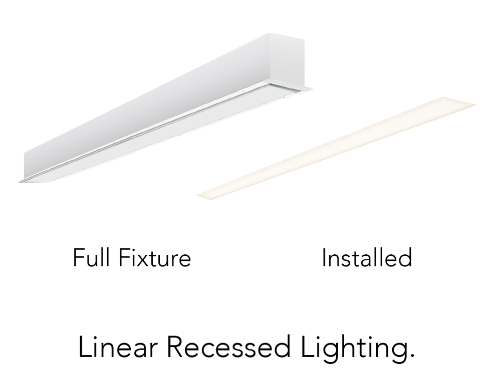 Alcon Lighting 14103 4 I66 Series Architectural Led 4 Foot Linear Recessed Mount Direct Fixture