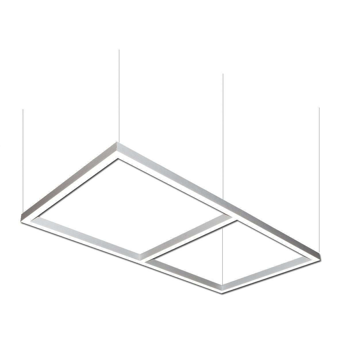 Alcon Lighting 12100 22 P Rc Continuum Architectural Led 48 Inch X 96 Rectangle Pendant Direct Light Fixture