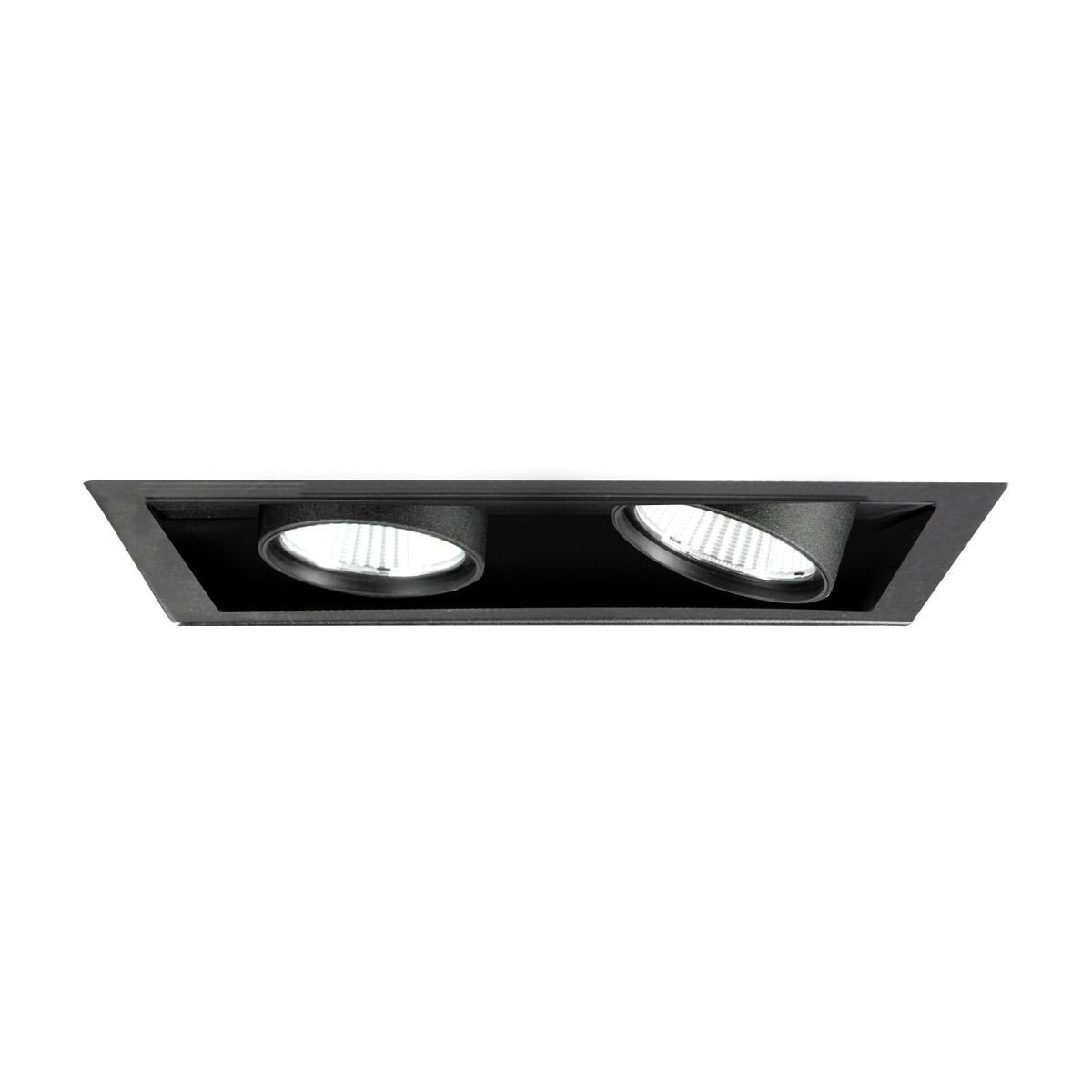 more photos c8106 7efc6 Alcon Lighting 14113-2 Oculare Pull-Down Architectural LED Trimless and  Flanged Adjustable 2 Heads Multiple Recessed Lighting System Direct Down ...