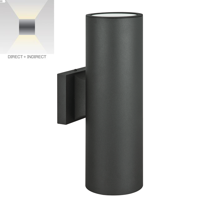 Alcon Lighting 11240 2 Zen Architectural Led 5 Inch Round Tall Cylinder Wall Mount Up Down Outdoor Light Fixture