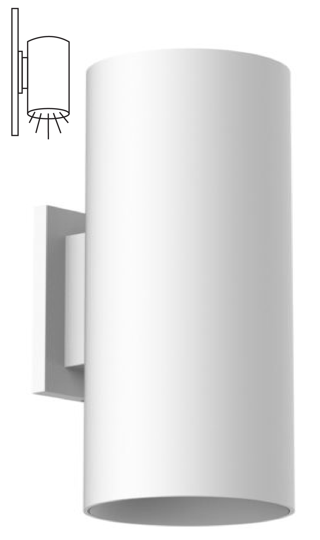 Alcon Lighting 11237 W Cilindro Ii Architectural Led Medium Modern Cylinder Wall Mount Direct Light Fixture