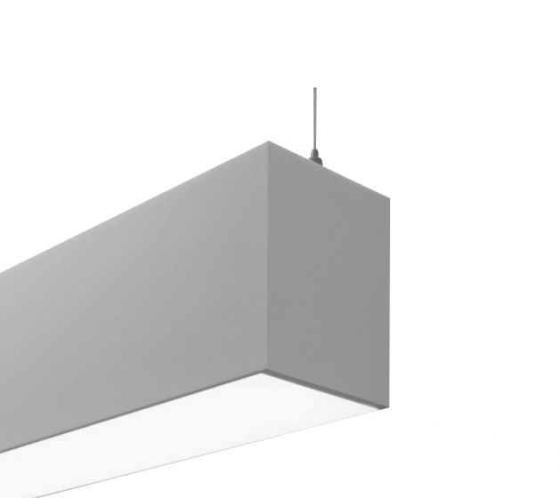 Finelite HP-4 ID 4 Inch Aperture LED Linear Suspended Strip Fixture (Direct / Indirect)