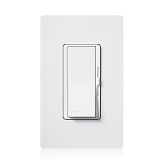 Image 1 of Lutron Diva DVSTV-WH 0-10V Dimmer Switch Single-Pole/ 3-Way 120-277V White (50mA Max)