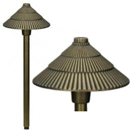 Alcon Lighting 9084 Raiden Solid Brass Low Voltage LED Architectural Landscape Path Light Fixture