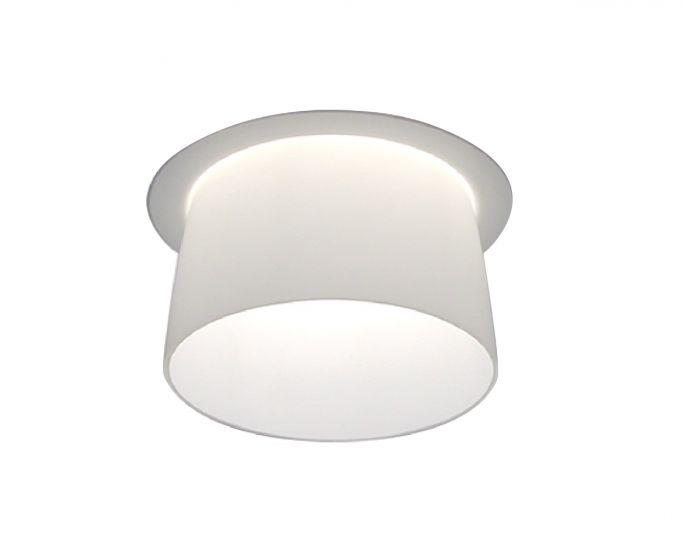 Image 1 of Alcon Lighting Pulsar 14023 Semi-Recessed 6 Inch LED Handblown Opal Glass Downlight