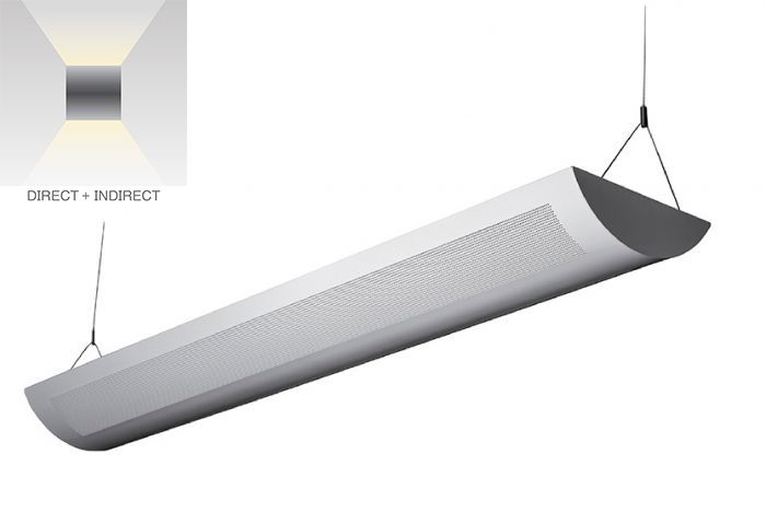 Alcon Lighting 12106-8 Ashton Architectural LED Perforated Linear Pendant Lighting Direct/Indirect Fixture - 8 Foot