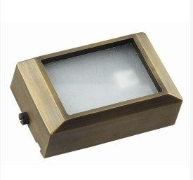 Die Cast Brass LV LED 4.5 Inch Short Surface Mounted Step Light