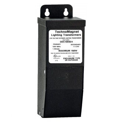 Image 1 of 100W 24V DC Outdoor NEMA 3 Rated Dimmable LED DC Magnetic Transformer Driver