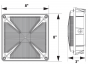 Image 2 of Alcon Lighting 16002 Talos Architectural LED 8 Inch Square Canopy Surface Mount Outdoor Direct Light Fixture