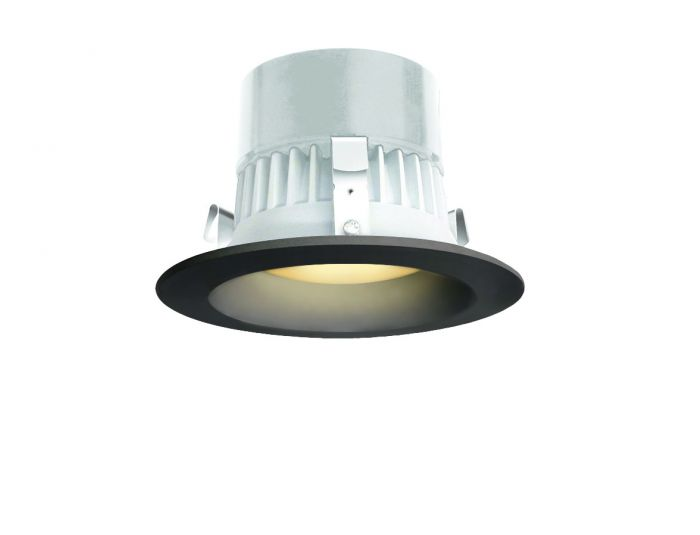 Image 1 of Alcon 14079 Black Round 4 Inch 3000K LED Recessed Downlight