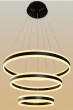 Alcon Lighting 12270-3 Redondo Suspended Architectural LED 3 Tier Ring Light Direct Indirect