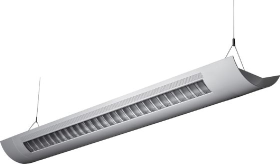 Alcon Lighting Catalina 10106-8  8 Foot T8 and T5HO Fluorescent Architectural Linear Suspended Light Fixture – Uplight (Direct) and Downlight (Indirect)