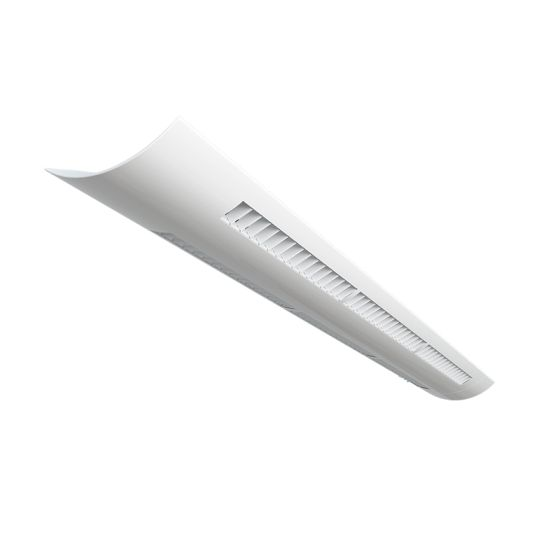 Alcon Lighting Louver 10121-LV-4 Architectural 4 Foot Pendant Linear Suspension Direct Indirect Lighting Fixture