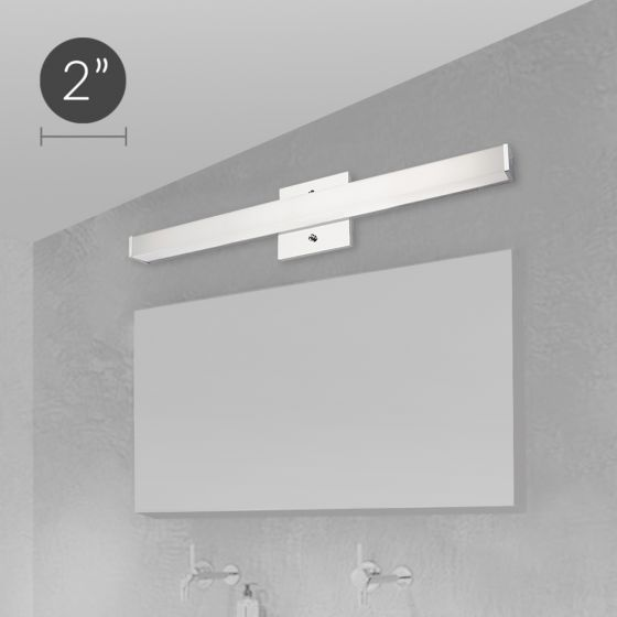 Alcon Lighting 11122-1 Modern Chrome Vanity LED Linear Wall Mount Lighting Fixture