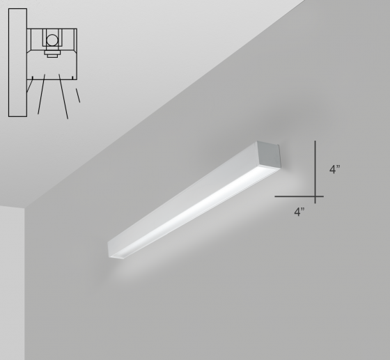 Alcon Lighting 12200-4-W RFT Series Architectural LED Linear Wall Mount Direct Light Fixture