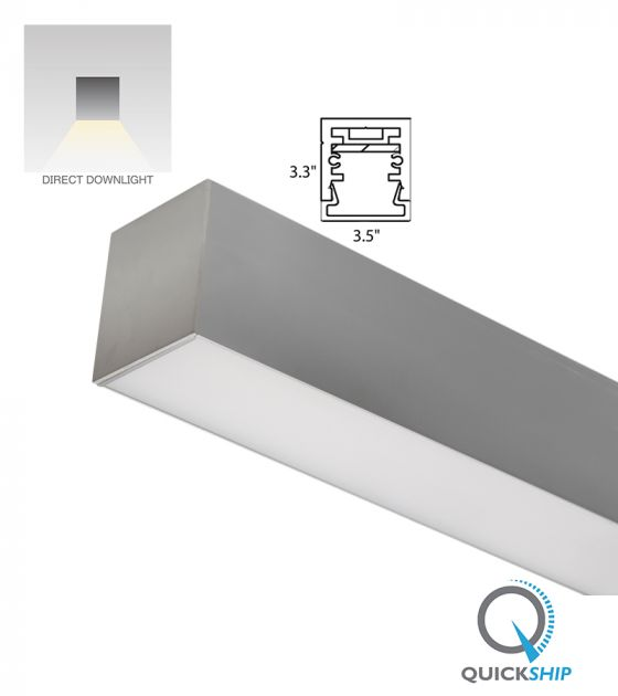 Alcon Lighting 12100-33-S Continuum 33 Architectural LED Linear Surface Mount Direct Light Fixture