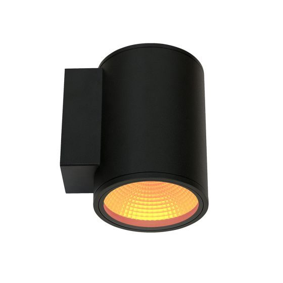 Alcon Lighting 11218-TF-R Pavo Turtle Friendly Dark Sky Architectural Amber LED 6 Inch Cylinder 1-Direction Wall Mount Light Fixture