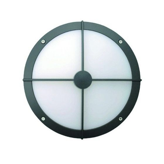 Alcon Lighting 11231-B Optic 10 Inch Round Bulls-Eye Face Guard Architectural LED Wallpack Outdoor Vandal Proof Luminaire