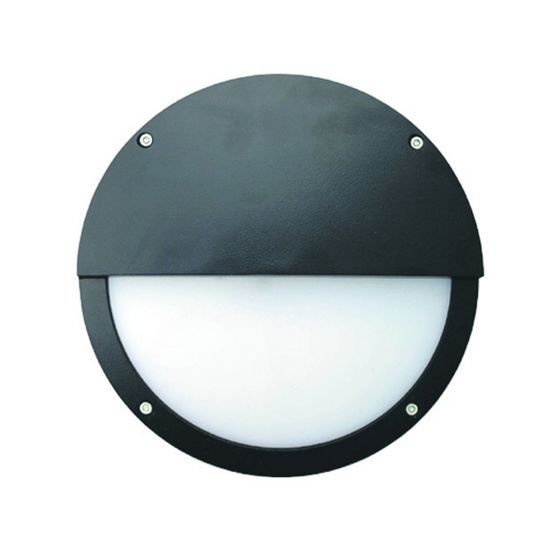 Alcon Lighting 11231-E Optic 10 Inch Round Eyelid Face Guard Architectural LED Wallpack Outdoor Vandal Proof Luminaire