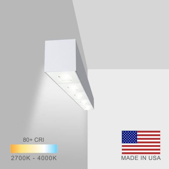 Alcon Lighting 11246-W Linear Adjustable Wall Mount Spot Light Box