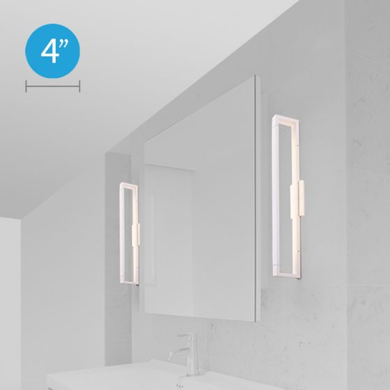 Alcon Lighting 11701 Axle Adjustable Rectangular Modern LED Dressing Room Vanity Light Fixture with Rotational Arm