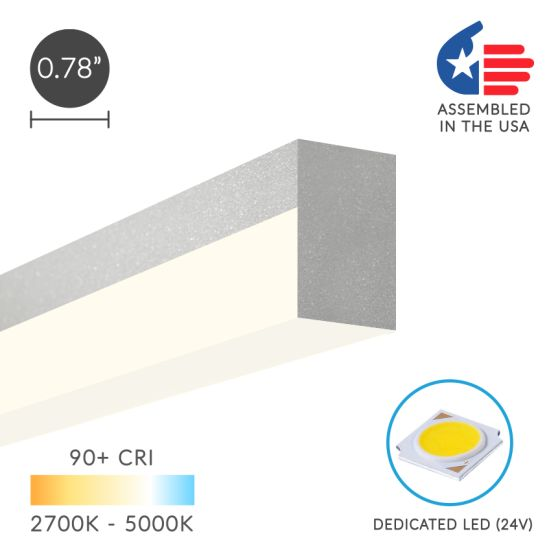 Alcon 12100-8-S Slim Linear LED Surface-Mounted Ceiling Light Bar
