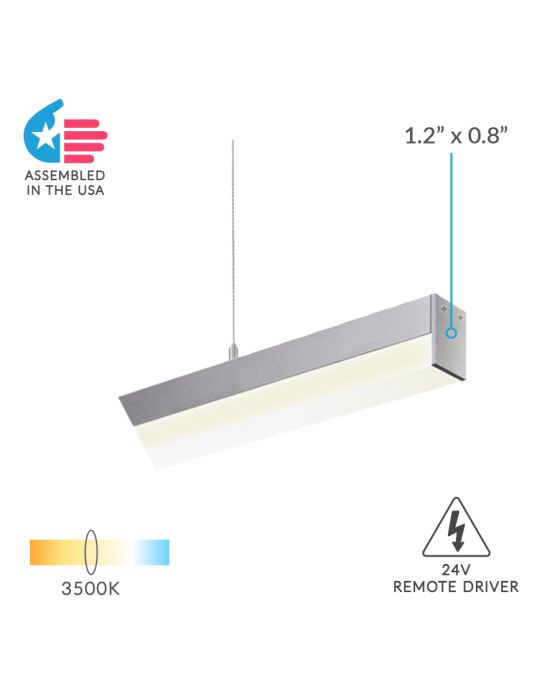 Architectural 24V LED Linear Pendant Light,  White LED Linear Pendant Light,  Silver LED Linear Pendant Light,  Black LED Linear Pendant Light,  Slim LED Linear Pendant Light