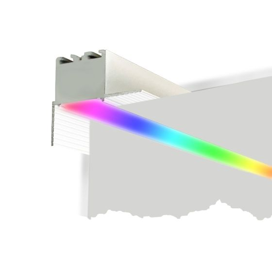 Alcon 12100-10-PR-RGBW Linear Trimless Recessed Wall Wash Color-Changing LED Light